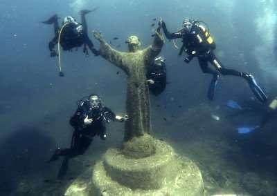 La scuola sub Sea Sub al Cristo degli Abissi